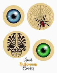 eyeball and skull paper fans for halloween