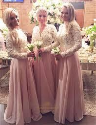 sleeved bridesmaid dresses two tone sleeve beaded waist pink chiffon bridesmaid