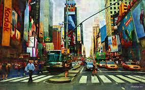 Hd New York City Wallpaper Wallpapersafari by 46 Times Square Wallpapers