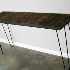 buy a hand crafted console sofa table with reclaimed wood mid