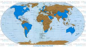 World Continents And Countries Map by Countingcars U0027 600 Customers 31 Countries 47 U S States 8