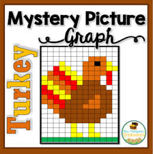 mystery picture graph turkey thanksgiving math by mrs thompson s