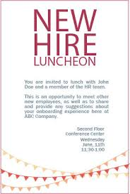 lunch invitation new hire luncheon invitation on behance