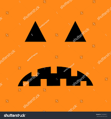 background halloween cute pumpkin sad face emotion big triangle stock vector 702308311
