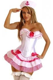 Halloween Costumes Sailor Woman 3 Pc Pink Sailor Costume Cicihot Costume Store