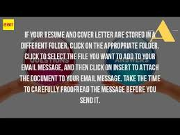 How To Send A Resume Through Email How Do You Send A Resume Through Email Youtube