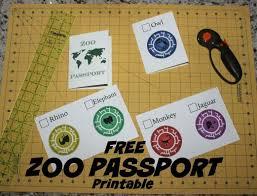 free zoo printable passport template craft pinterest