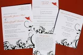 wedding invitations jamaica green coral orange jamaican hummingbird and floral vine
