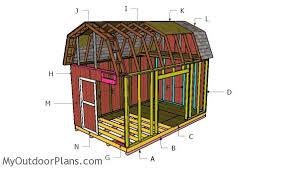 10x16 barn shed with loft plans myoutdoorplans free