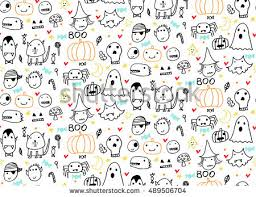 Design Patterns For Cards Cute Hand Drawn Halloween Pattern Vector Download Free Vector