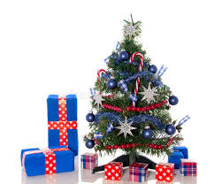 a red white blue christmas tree stock photo image 22149330