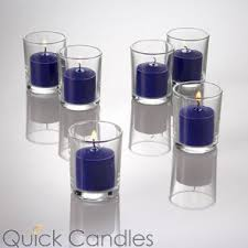 blue tea light candles votive candles scented unscented in bulk quick candles