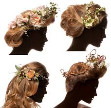hair corsage skip the veil flower crowns sequin and tulle