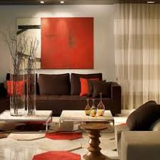 Darkbrownandlimegreenlivingroomwallideas Brown Living - Orange living room design