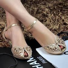 leather low heel crystal wedding shoes silver peep toe flat shoes