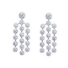 Cubic Zirconia Chandelier Earrings White Color Cz Chandelier Earring Gargash