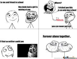 Together Alone Meme - forever alone together by recyclebin meme center