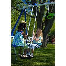 playground swing set metal swingset outdoor play slide backyard up