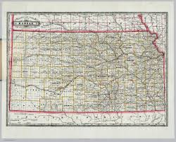 Map Of Ks Railroad And County Map Of Kansas David Rumsey Historical Map