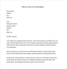letter of recommendation sample 1reference letter for friend