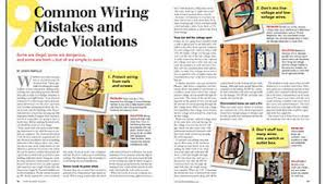 9 common wiring mistakes and code violations fine homebuilding