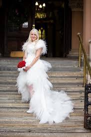 burlesque wedding dresses white feather wedding dress white burlesque style wedding dress
