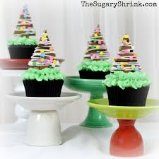 christmas tree cupcakes the sugary shrink