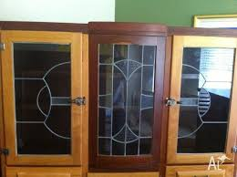 leadlight kitchen cabinets 1940 s leadlight display cabinet kitchen dresser for sale in