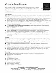 Example Of Great Resume 100 Good Business Resume Samples Resume Examples Inspiring