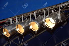 stage lighting system under roof spotlights outdoor theater