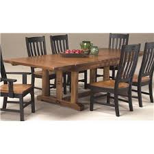 Intercon Rustic Mission Curved Slat Side Chair Boulevard Home - Mission dining room table