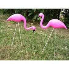 otc 2 small pink flamingo mini lawn ornaments yard decor