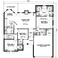 plan42 european style house plan 3 beds 2 00 baths 1524 sq ft plan 42 337