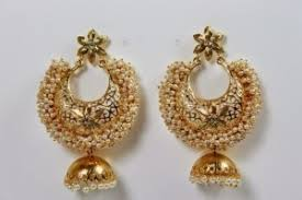 buy jhumka earrings online moti jhumkas earrings pearl studded jhumka earrings craftsvilla
