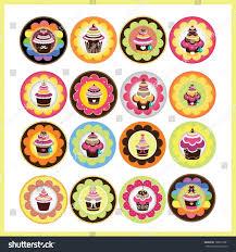 cute cup cake design stock vector 108797681 shutterstock