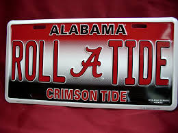 of alabama alumni car tag alabama roll a tide crimson tide football fan license