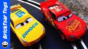 carrera first disney pixar cars 3 slot cars new 2017 set youtube
