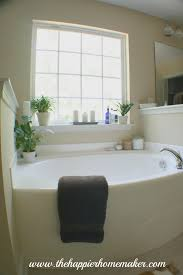 Home Bathroom Decor by Decorating Around A Bathtub The Happier Homemaker Home