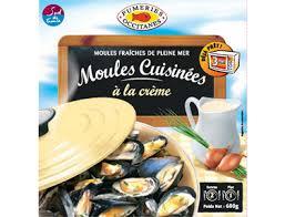 moules cuisinées à la crème pêcheries sétoises 600 g pêcheries