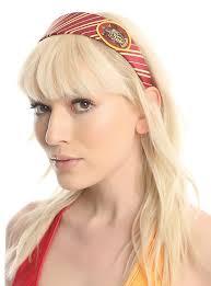 jimi headband harry potter striped gryffindor patch headband hot topic