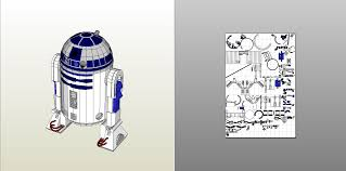 papercraft pdo file template for star wars r2d2