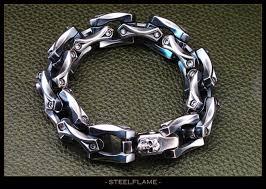 metal link bracelet images Steel flame axe link bracelet edc knives jpg