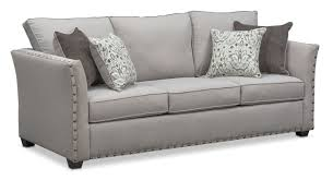 mckenna queen memory foam sleeper sofa pewter american