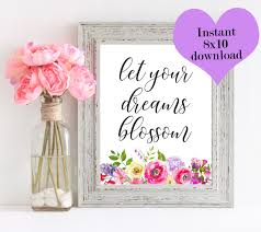 let your dreams blossom desk accessories for women cubicle