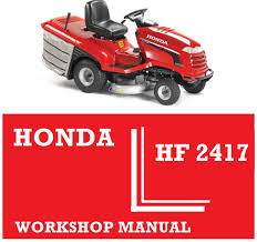 honda hf2417 ride on tractor mower workshop service repair fix