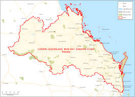 Map Of Queensland Department Of Health Central Queensland Wide Bay Sunshine