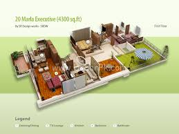 download 20 marla house plan adhome