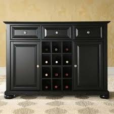 Wine Buffet Table Server With Wine Rack Foter