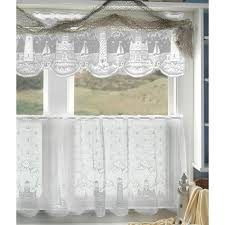 Lighthouse Window Curtains White Lighthouse Lace Tier Curtains By Heritage Lace Bedbathhome