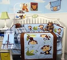 Nursery Bed Set Soho Playful Monkey Baby Crib Nursery Bedding Set 14